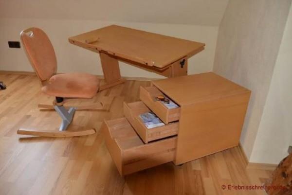 91325 Schreibtisch mit Rollcontainer und Bewegungsstuhl (Moizi)