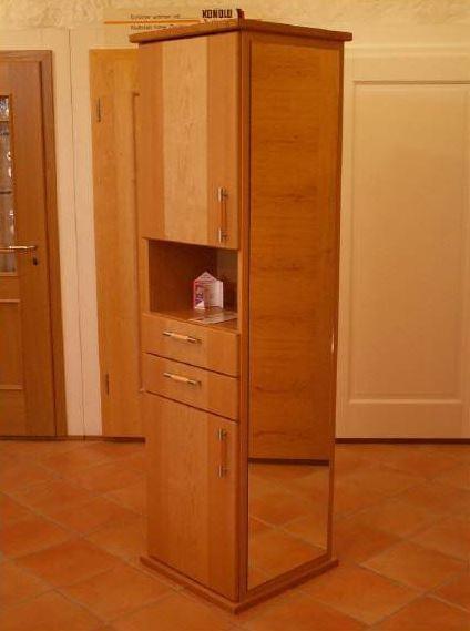 91325 Garderobensäule, Badschrank, freistehend nutzbar mit Spiegel